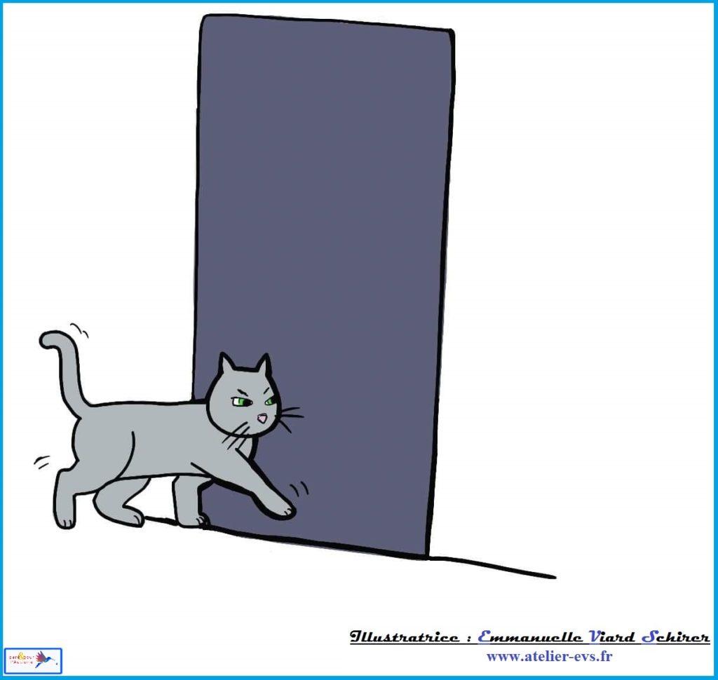 le chat part