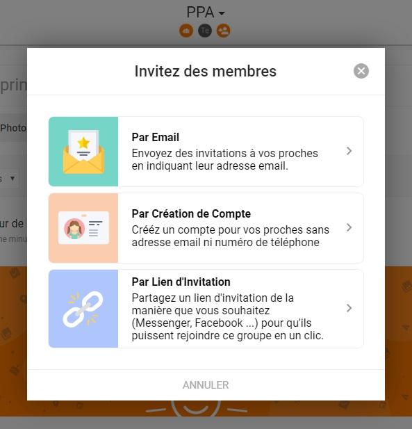 invitations de membres