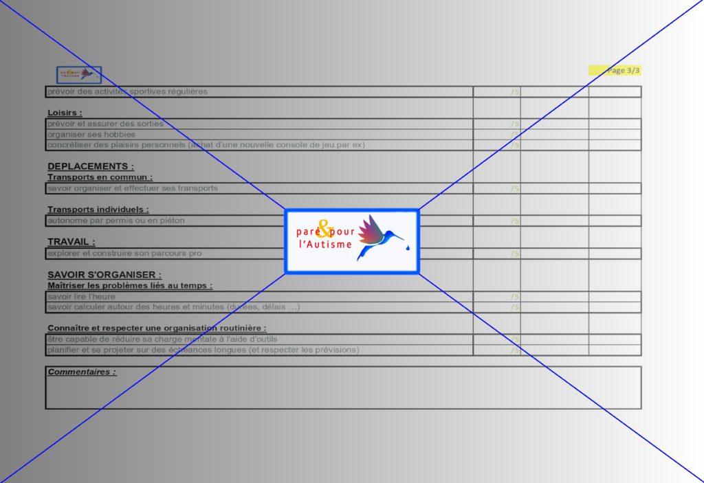 autonomie adulte autisme asperger : évaluation 3