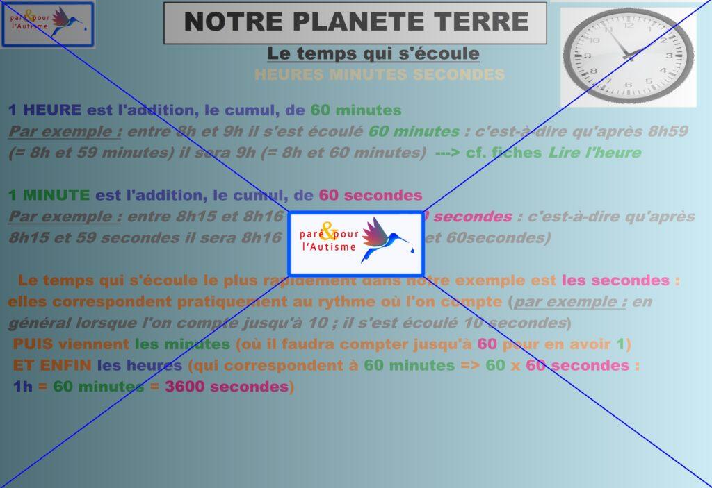 le temps qui s'écoule sur notre planète 11