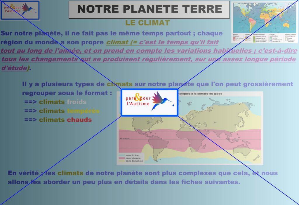 climat de notre planète Terre 1