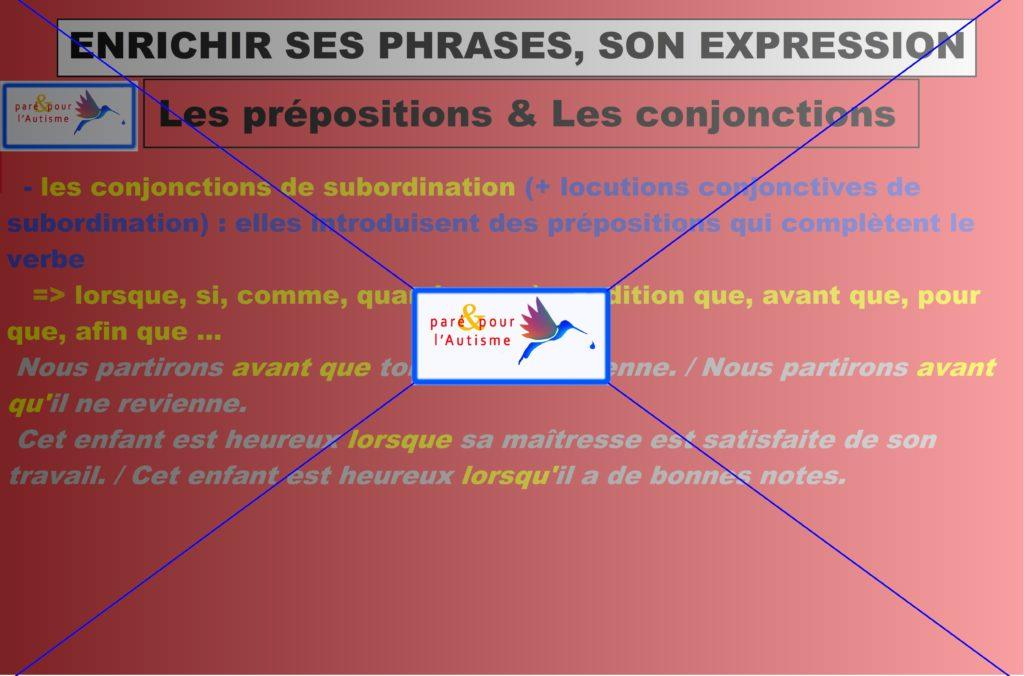 les prépositions et les conjonctions 2