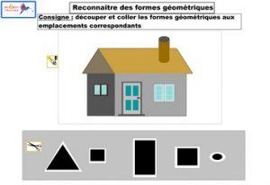 activité reconnaître des formes géométriques