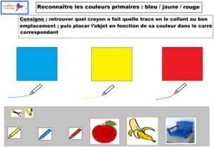 reconnaître les couleurs primaires