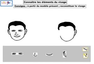 connaître les éléments du visage
