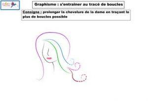 graphisme s'entraîner au tracé de boucles