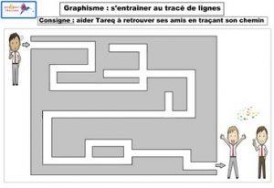 graphisme s'entraîner au tracé de lignes 3