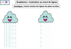 graphisme s'entraîner au tracé de lignes 2