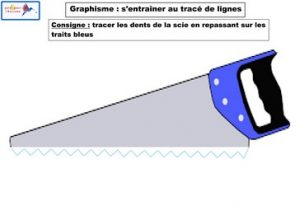 graphisme s'entraîner au tracé de lignes