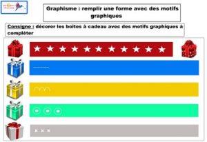 graphisme remplir une forme avec des motifs graphiques