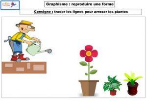 graphisme reproduire une forme lignes