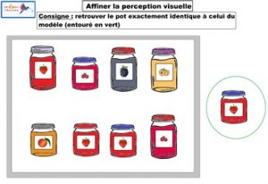 activité affiner la perception visuelle