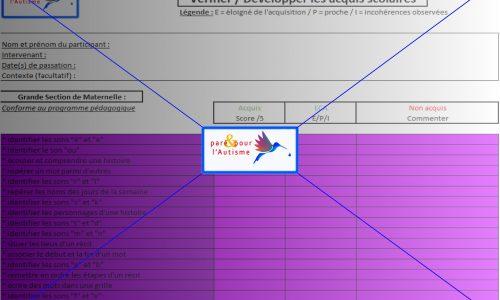 évaluation compétences scolaires GS maternelle page 2