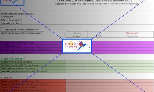 évaluation compétences scolaires GS maternelle page 3